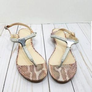 Calvin Klein pink snakeskin print sandals 7.5